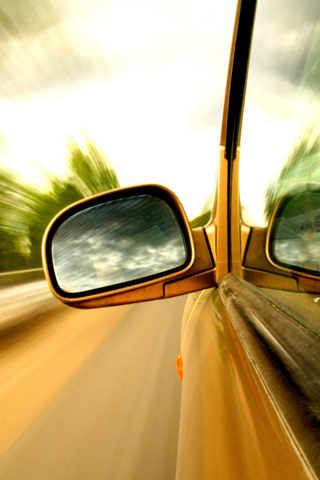 Side Mirror iPhone Wallpaper