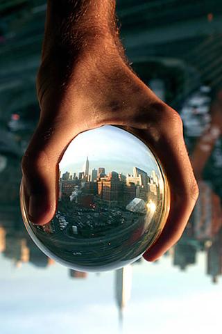 Glass Ball iPhone Wallpaper