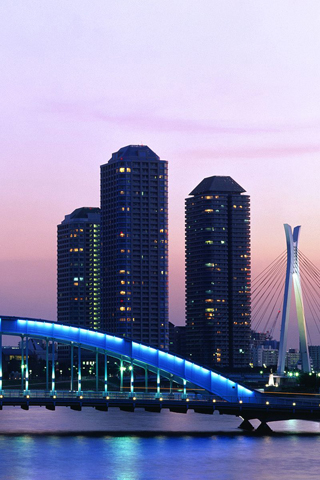 Eitai Bridge, Tokyo, Japan iPhone Wallpaper