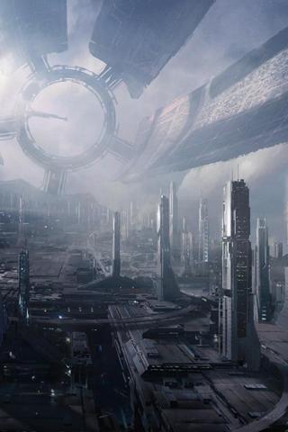 Futuristic City iPhone Wallpaper