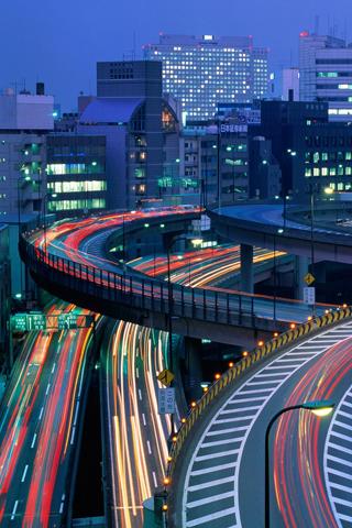 Tokyo Highway iPhone Wallpaper