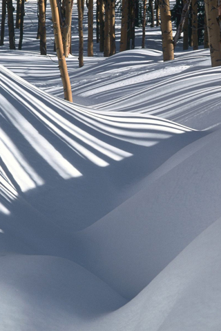 Shadow Striped Snow iPhone Wallpaper