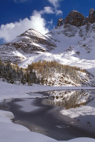 Mount Assiniboine, Canada iPhone Wallpaper