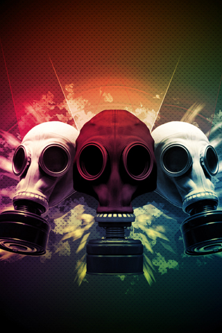 Gas Masks iPhone Wallpaper