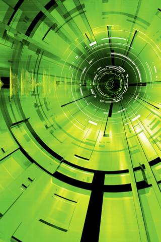 Green Tube iPhone Wallpaper
