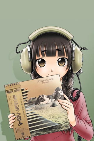 Headphone and Musume iPhone Wallpaper