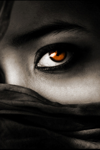 Exotic Eyes iPhone Wallpaper