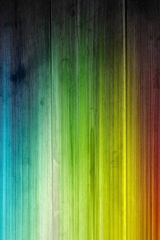 Rainbow Stained Wood iPhone Wallpaper