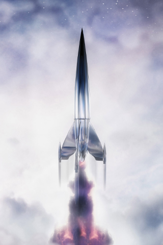 Blast Off iPhone Wallpaper