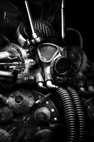 Mechanical Suit iPhone Wallpaper