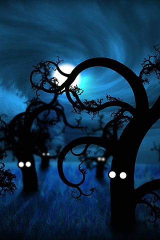 Spooky Trees iPhone Wallpaper