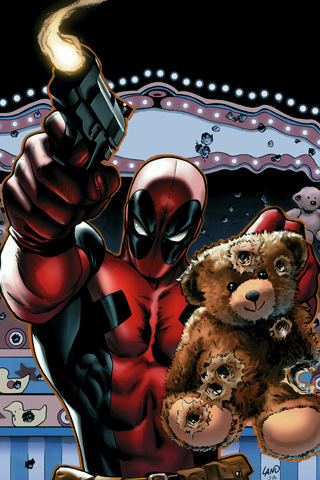 Deadpool and Bear iPhone Wallpaper