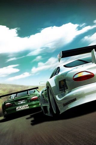 Racecars iPhone Wallpaper