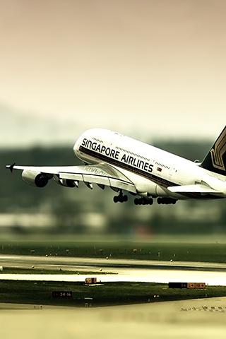 Airplane Landing iPhone Wallpaper