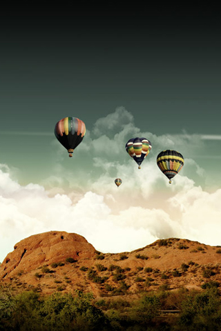 Hot Air Balloons iPhone Wallpaper