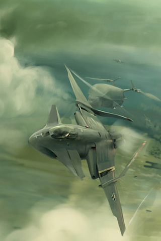 Futuristic Fighter Plane iPhone Wallpaper