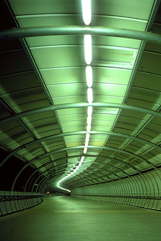 Long Green Tunnel iPhone Wallpaper