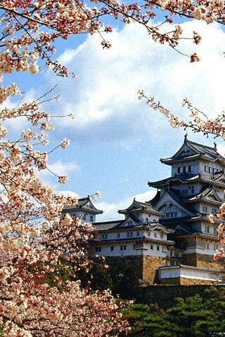 Himeji Castle iPhone Wallpaper
