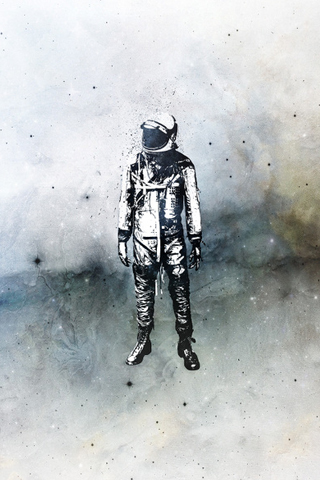 Spaceman iPhone Wallpaper