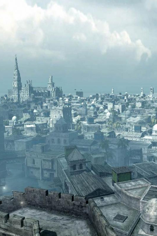 Assassin's Creed Cityscape iPhone Wallpaper