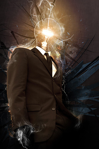 Enlightened Man iPhone Wallpaper