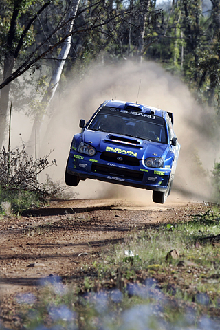 Subaru WRC Jump iPhone Wallpaper
