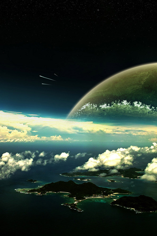 Stellar Islands iPhone Wallpaper