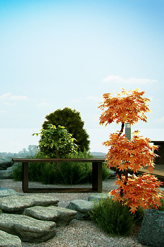 Zen Garden iPhone Wallpaper