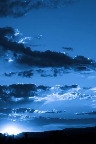 Blue Sky iPhone Wallpaper