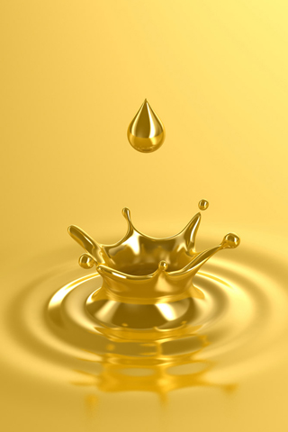 Liquid Gold iPhone Wallpaper