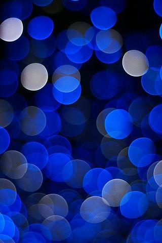 Bokeh Blue iPhone Wallpaper