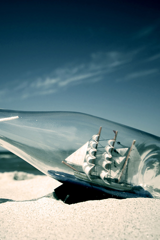 Boat in a Bottle iPhone Wallpaper