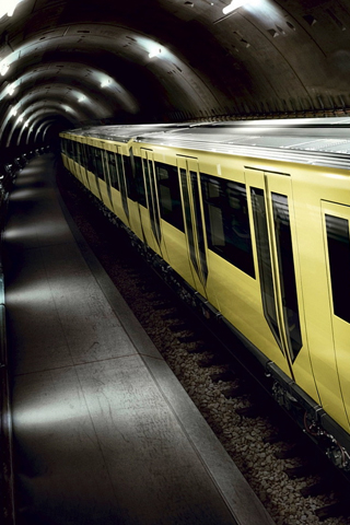 Yellow Subway iPhone Wallpaper