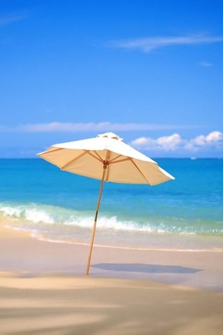 Beach Umbrella iPhone Wallpaper