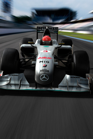 Mercedes Formula 1 iPhone Wallpaper