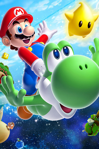 Super Mario Galaxy 2 iPhone Wallpaper