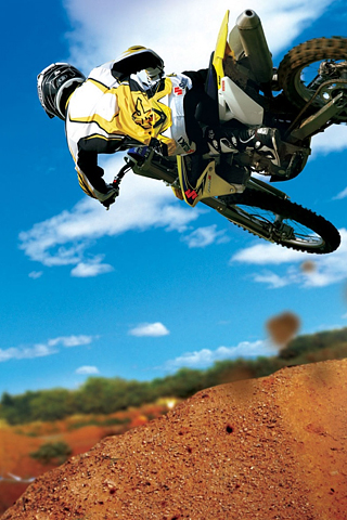 Motocross Stunt iPhone Wallpaper