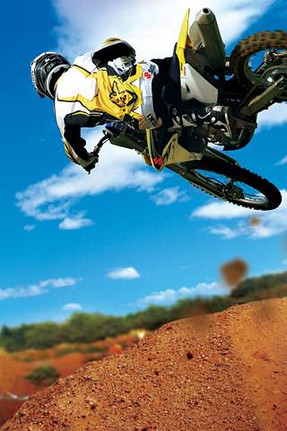 Motocross Stunt iPhone Wallpaper