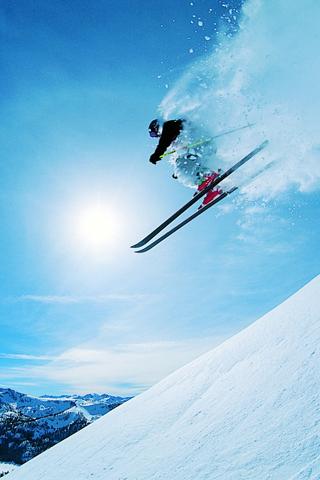 Skiing iPhone Wallpaper