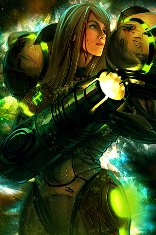 Samus Aran iPhone Wallpaper