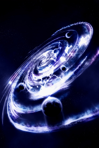 Spiral Galaxy iPhone Wallpaper
