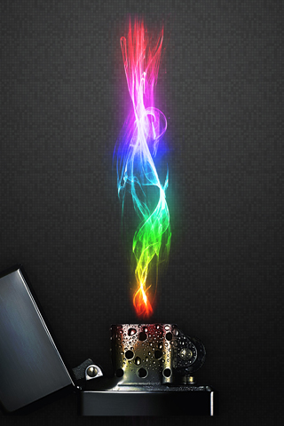 Rainbow Flame iPhone Wallpaper