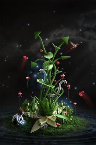 Strange Nature iPhone Wallpaper