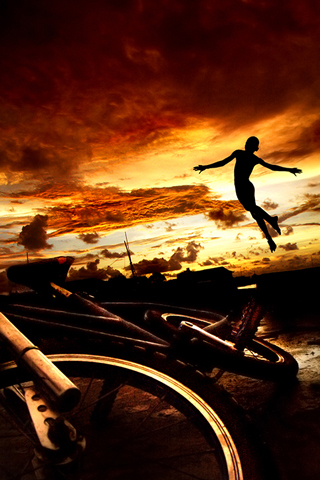Jump by Ihdar Nur iPhone Wallpaper