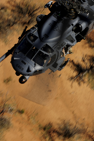 Helicopter Patrol iPhone Wallpaper
