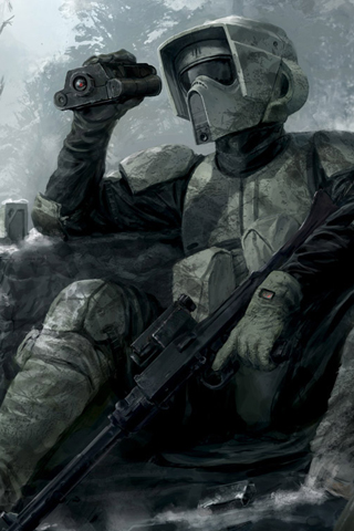 Outpost Trooper iPhone Wallpaper