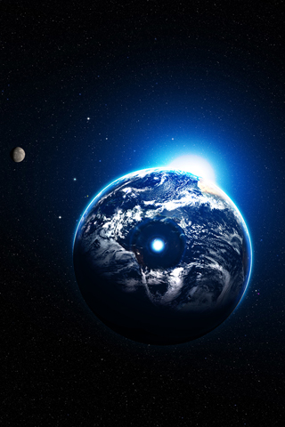 Earth Beam iPhone Wallpaper