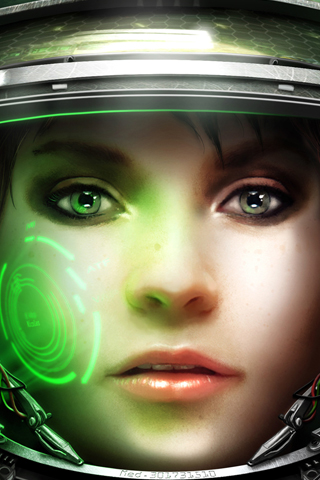 Starcraft 2 - Medic Closeup iPhone Wallpaper