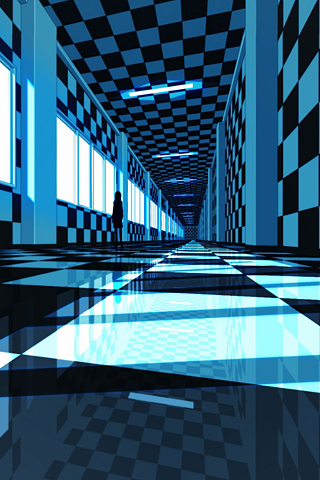 Checkered Hallway iPhone Wallpaper