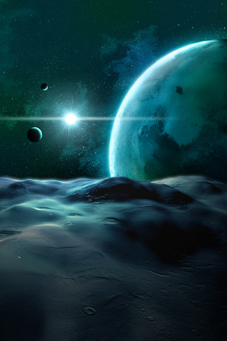 Lunarscape iPhone Wallpaper